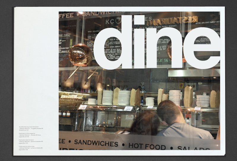 Typography for Dine in Dublin