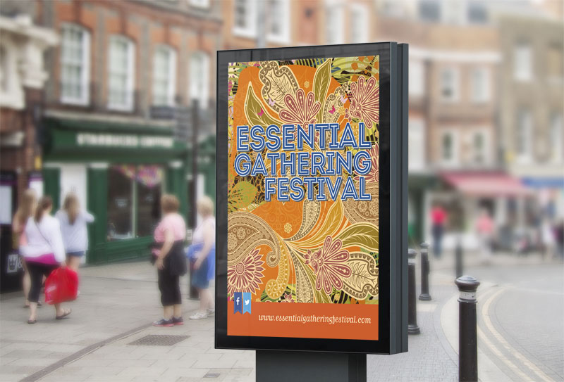 Street Billboard for Essential Gathering Festival