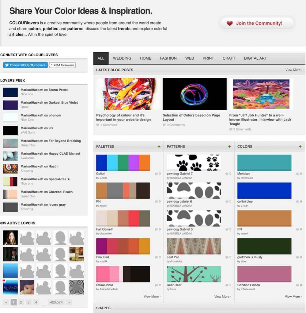 Colour Lovers Design Inspiration