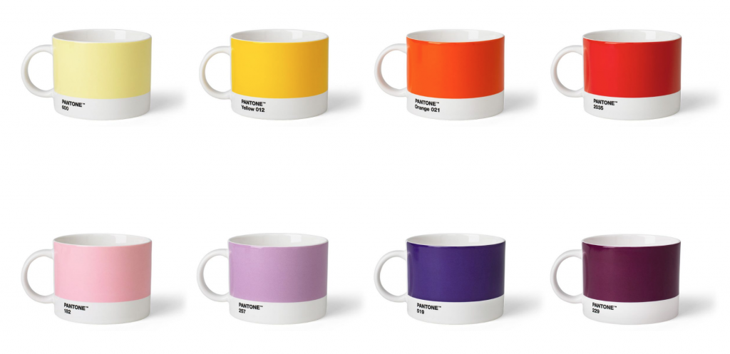Pantone colour guide cups by Copenhagen Design: Colour of the year 2019