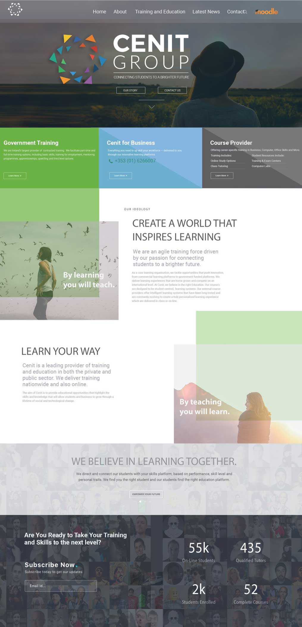 College Web Design Layout Options